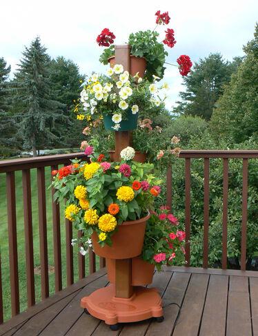 Vertical Herb Garden Flower Pot Tower Gardeners Com