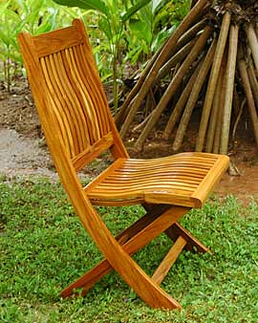 Teak Folding Dining Chair Gardener S Supply