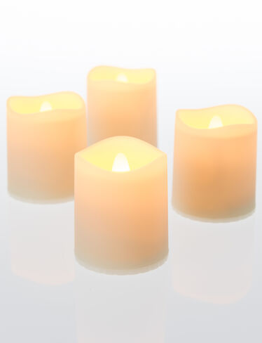 LED Votive Candles, Set of 4