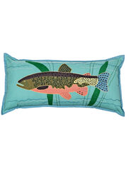 Trout Throw Pillow Lumbar