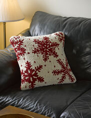 White Snowflake Pillow, 18""
