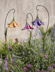 Trumpet Flower Metal Garden Stake