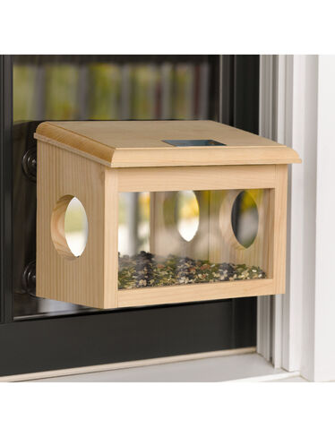 Mirrored Window Birdfeeder