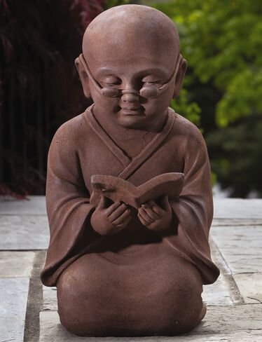 Reading Buddha Garden Statue