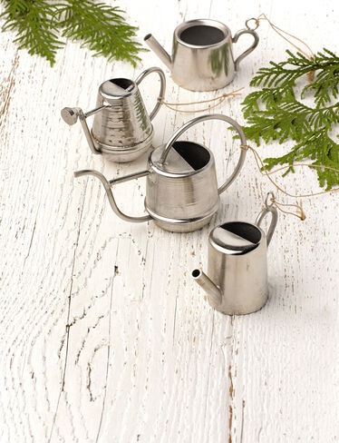 Watering Can Ornaments, Set of 4