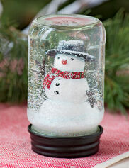 Snowman in a Jar Snow Globe