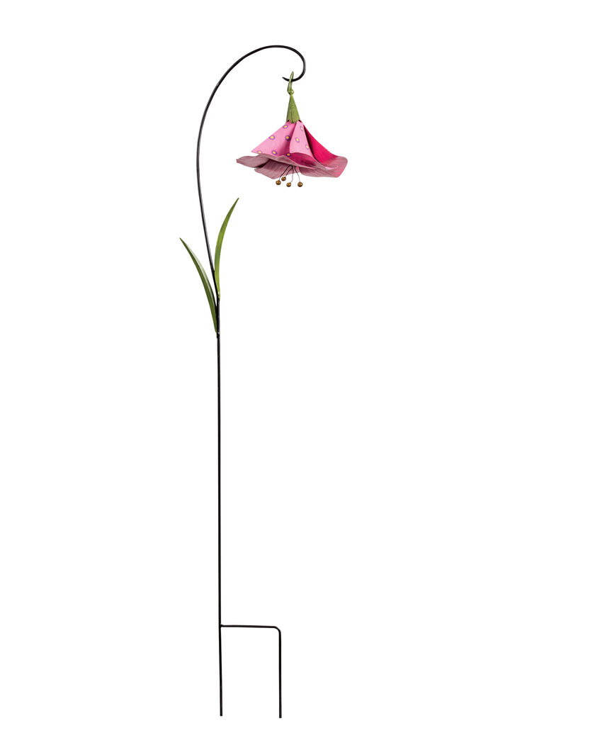 Metal Flowers Trumpet Flower Decorative Garden Stakes