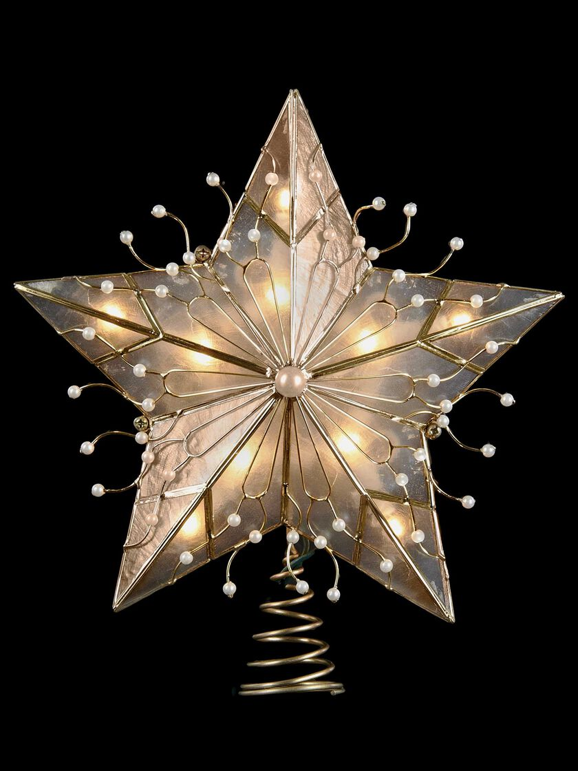 Christmas tree star topper capiz