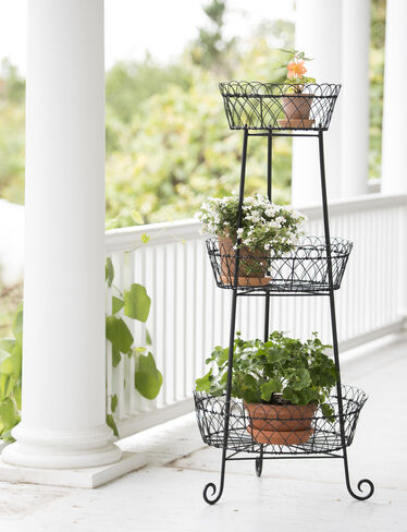 Decorative Round Metal Plant Stand 47 Tall