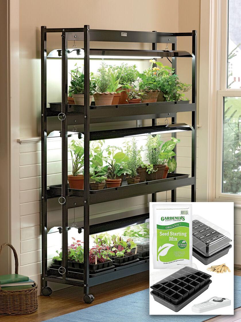 Grow light for houseplants - 3 Tier Garden Starter 174 Grow Light Kit