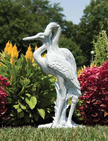 Crane Statue Cranes Garden Sculpture