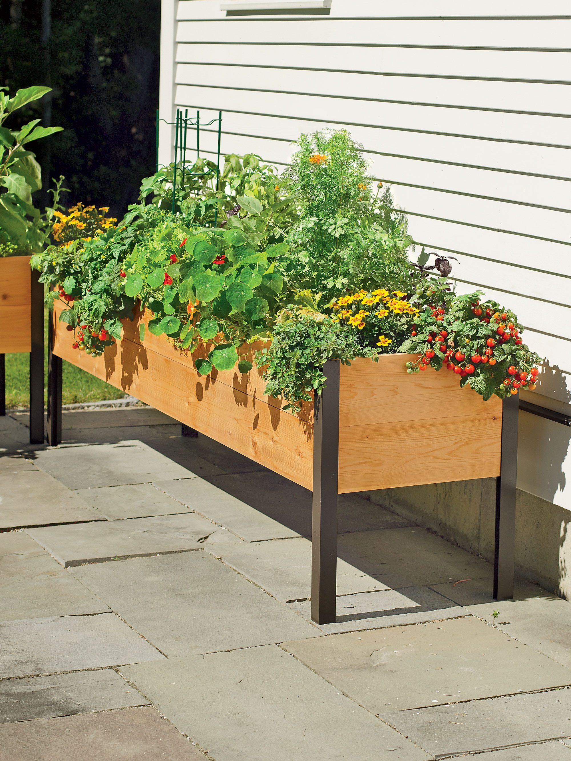 Counter Height Garden Boxes : Planter Boxes: Standing Height Cedar Raised Garden - 742x1120 - jpeg