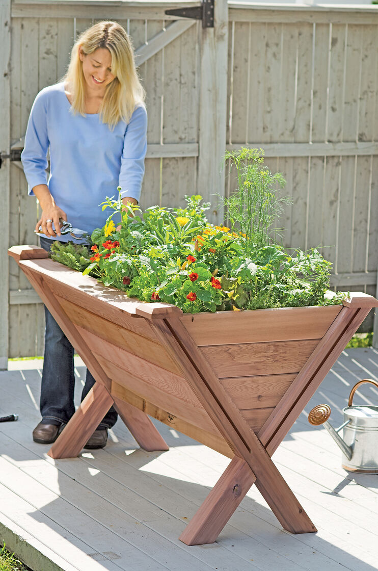 Garden Wedge Elevated Bed for Apartment Gardening Made in USA