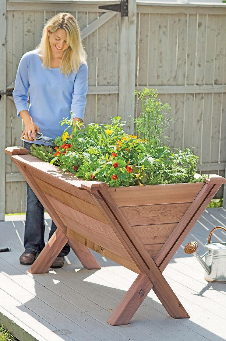 Kitchen Garden Trough Garden Wedge Elevated Bed For Apartment Gardening Made In Usa