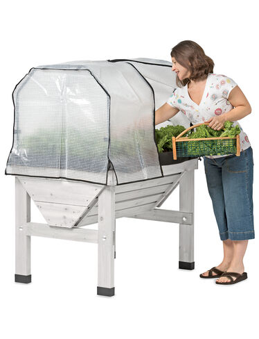 *Compact VegTrug Patio Garden with Greenhouse Cover and Frame