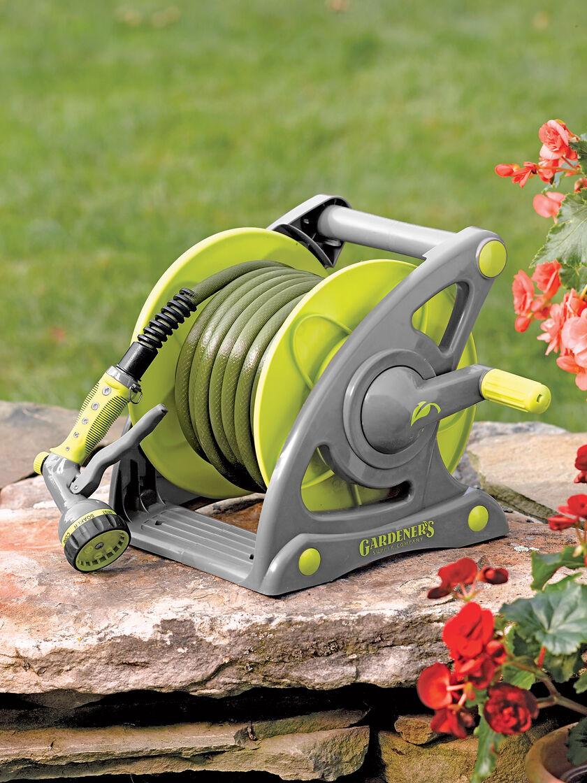 Garden Hose Reel: Compact Hose & Reel Set | Gardener's Supply
