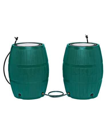 Two 4-Port Rain Barrels plus Linking Kit