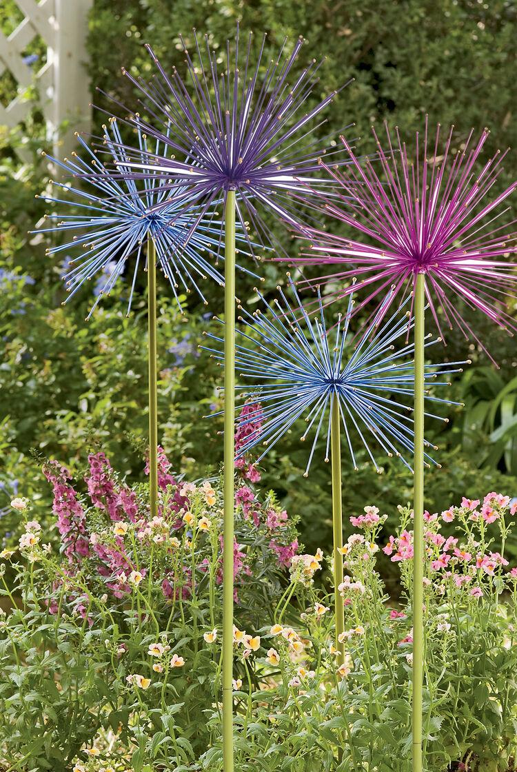 Large Metal Flowers Everlasting Alliums Gardener S Supply