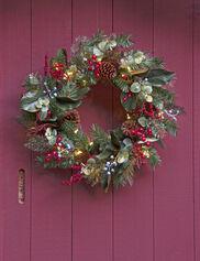 Savannah Pre-Lit Wreath