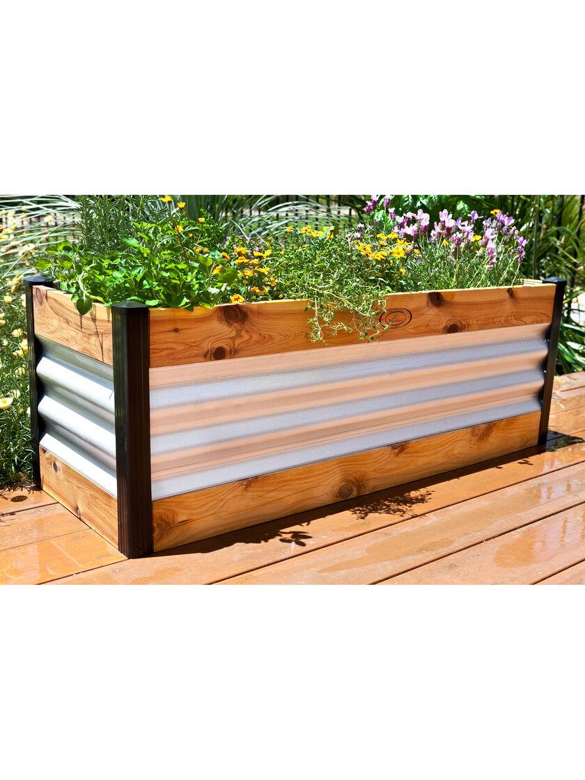 Corrugated Metal and Wood Raised Bed Garden Beds Gardenerscom
