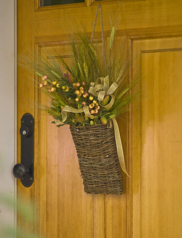 *Small Willow Pocket Basket, flowers are not included