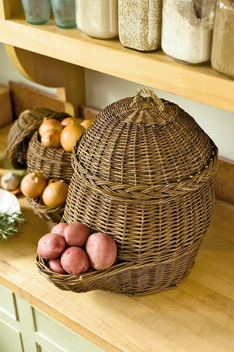 Onion Amp Potato Storage Baskets Gardeners Com