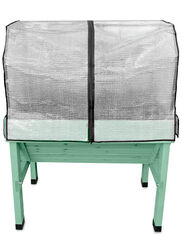 Compact VegTrug™ Patio Garden with Two Covers, Robin Egg Blue