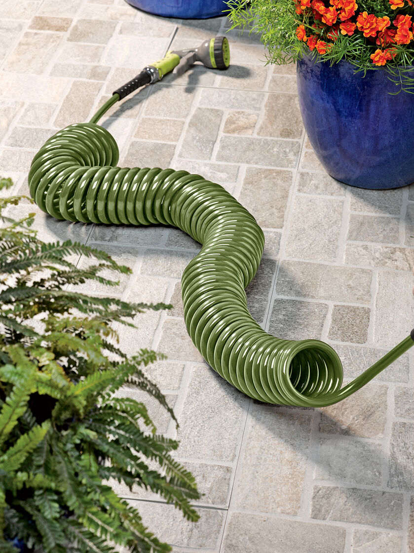 Coil Hose 50 Ft Long Coiled Garden Hose Gardenerscom