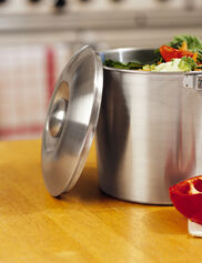 Brushed Stainless Steel Compost Pail