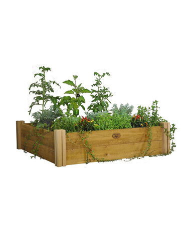 4' x 4' Rustic Cedar Raised Bed Raised Bed, Raised Garden Bed, Garden Bed, Raised Garden, Container Gardening, Garden Containers