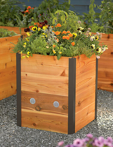 Elevated Cedar Raised Bed, 2' x 2' Raised Bed, Raised Garden Bed, Garden Bed, Raised Garden, Container Gardening, Garden Containers