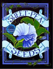 Sweet Pea Seed Pack Outdoor Art