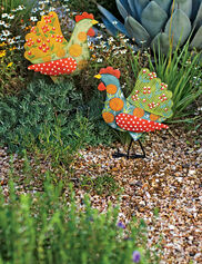Calico Chicken Stakes, Set of 2