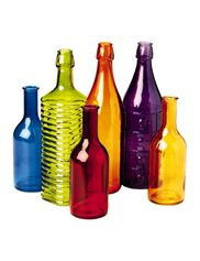 Colorful Bottles, Set of 6