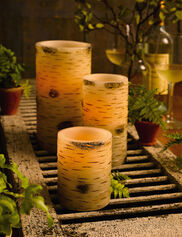 Birch Pillar LED Candles