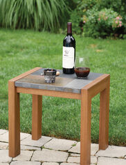 Slate & Eucalyptus Side Table