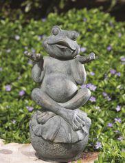 Zen Frog Statue