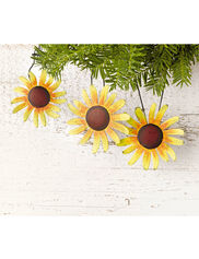 Black-Eyed Susan Ornaments, Set of 6