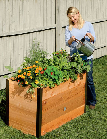 2' x 4' Elevated Cedar Raised Bed Raised Bed, Raised Garden Bed, Garden Bed, Raised Garden, Container Gardening, Garden Containers
