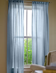 "Sheer Insulated Curtain, 63"" L x 50"" W"