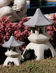 Japanese Pagoda Lantern Sculptures