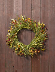 Faux Mini Aster Wreath