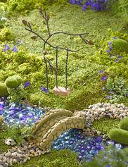 Fairy Garden Tree Swing & Bridge Set