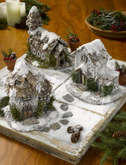 Winter Fairy Houses, Set of 3