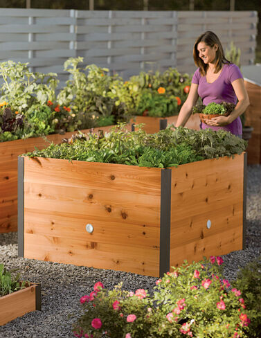 Elevated Cedar Raised Bed, 4' x 4' Raised Bed, Raised Garden Bed, Garden Bed, Raised Garden, Container Gardening, Garden Containers