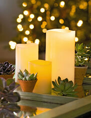 Ivory Pillar LED Candles