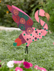 Calico Flying Flamingo Stake