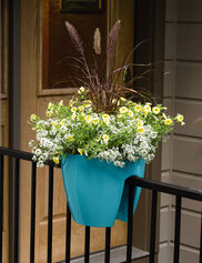 Viva Self-Watering Saddle Railing Planter