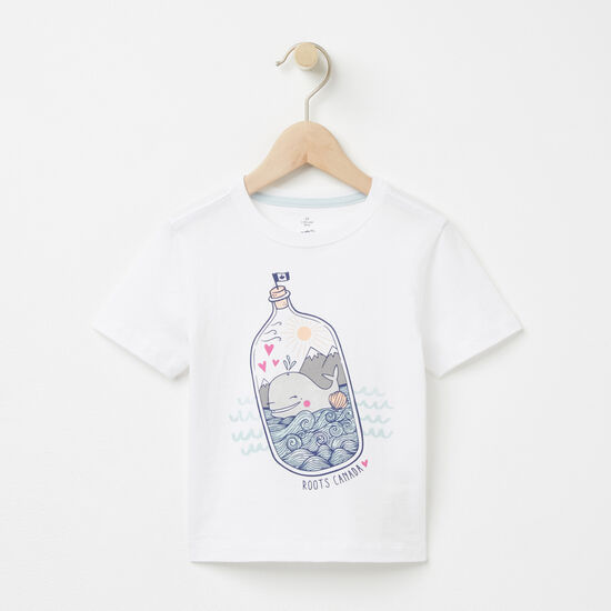 Roots-Kids T-shirts-Toddler Oceanscape T-shirt-White-A