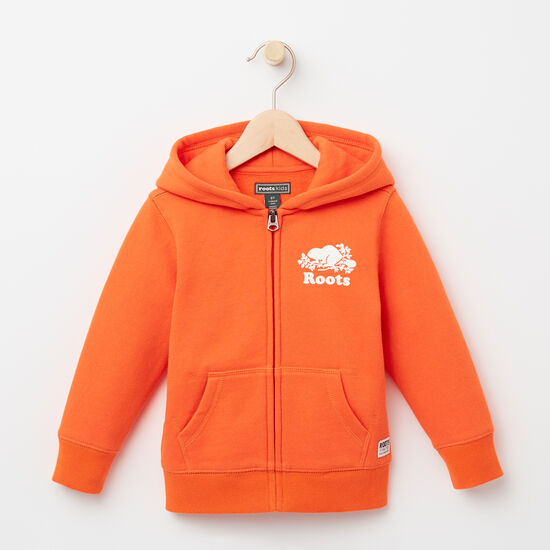 Roots-Kids Toddler Boys-Toddler Original Full Zip Hoody-Maple Orange-A